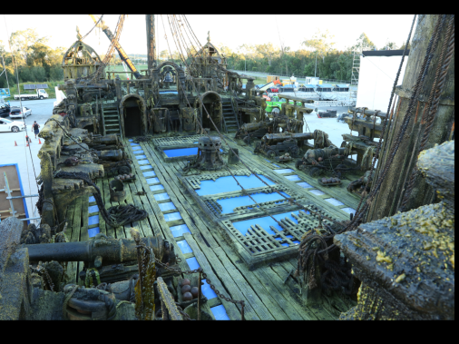 Pirates of the Caribbean - Dead Men Tell no Tales set decoration by Bev Dunn.