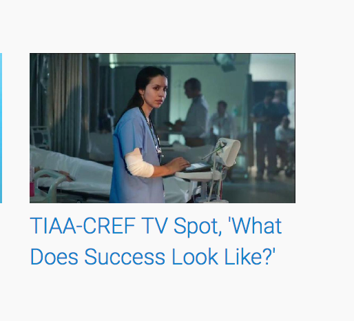 TIAA - 'What Does Success Look Like?'